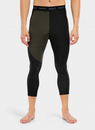 Legginsy termoaktywne Majesty Surface Bear Pants - black/army green