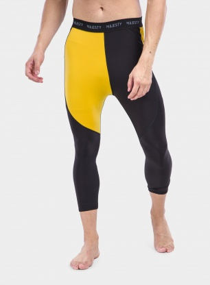 Legginsy termoaktywne Majesty Surface Vandal Pants - black/yellow