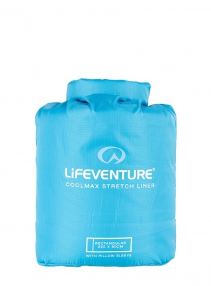 Lifeventure Coolmax Stretch Sleeping Bag Liner - aqua