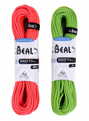 Lina bliźniacza Beal Gully 7,3 mm 60m Unicore GOLDEN DRY x2 - or/gr