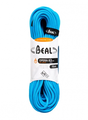 Lina dynamiczna Beal Opera 8,5 mm 50m Unicore Dry Cover - blue