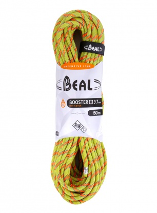 Lina dynamiczna Beal Booster III 9,7 mm 50m Unicore Dry Cover - anis