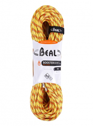 Lina wspinaczkowa Beal Booster III 9,7 mm 60m Unicore Dry Cover - anis