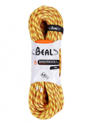 Lina dynamiczna Beal Booster III 9,7 mm 70m Unicore Dry Cover - anis
