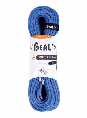 Lina wspinaczkowa Beal Booster III 9,7 mm 70m Unicore Dry Cover - blue