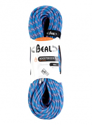 Lina dynamiczna Beal Booster III 9,7 mm 80m Unicore Dry Cover - blue