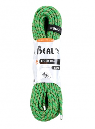 Lina dynamiczna Beal Tiger 10 mm 60m Unicore Dry Cover - green