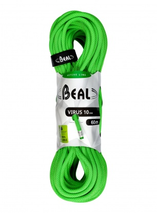 Lina dynamiczna 10mm Beal Virus 60m - solid green