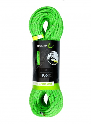 Lina dynamiczna Edelrid Tommy Caldwell Pro Dry DT 9,6 mm 60m - green