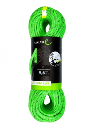 Lina dynamiczna Edelrid Tommy Caldwell Pro Dry DT 9,6 mm 70m - green