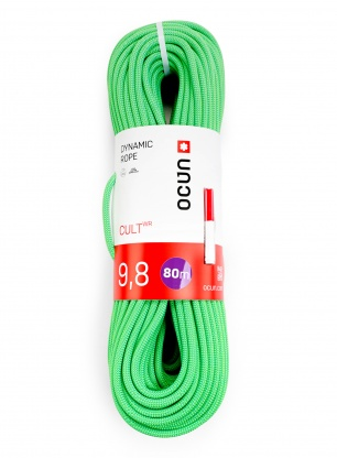 Lina dynamiczna Ocun Cult 9,8mm 80m – green/icemint