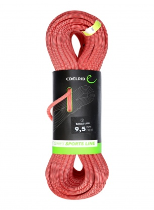 Lina wspinaczkowa Edelrid Eagle Lite 9,5 mm 70m - red
