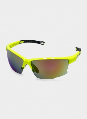 Okulary Goggle Dagger - neon yellow/black - CAT 3 red mirror