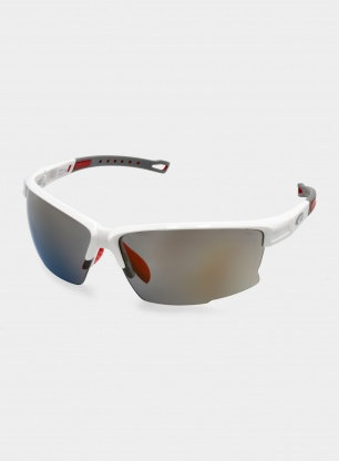 Okulary Goggle Dagger - white/red - CAT 3 gold mirror