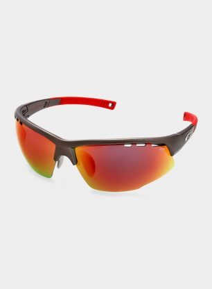 Okulary Goggle Falcon Extreme - matt gun/red - POL3 red