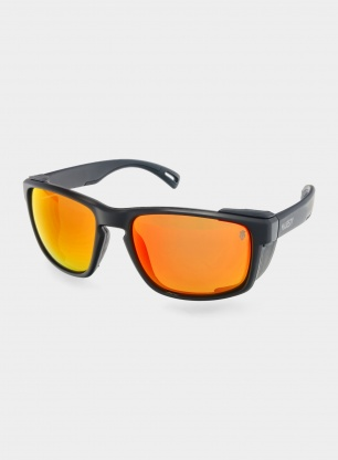 Okulary Majesty Vertex - matt black/polarised red lens