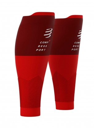 Opaski kompresyjne na łydki Compressport R2v2 - red