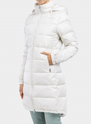 Płaszcz damski The North Face Metropolis Parka III - vintage white