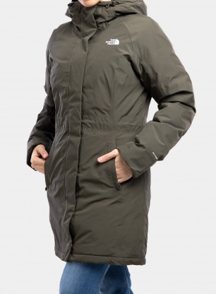 Płaszcz damski The North Face Recycled Brooklyn Parka - t.green