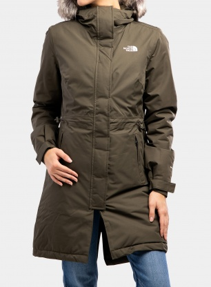 Płaszcz damski The North Face Recycled Zaneck Parka - new taupe green
