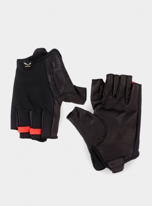 Rękawiczki via ferrata Salewa Agner VF DST Gloves - black out