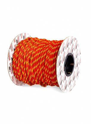 Repsznur 7mm Teufelberger Accessory Cord na metry - red/yellow