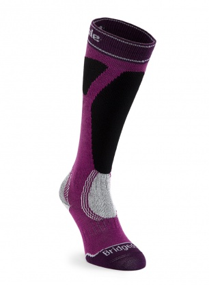 Skarpety Bridgedale damskie Ski Easy On Merino P - magenta/black