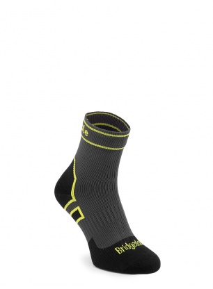 Skarpety Bridgedale StormSock Lt Ankle - dark grey/lime