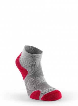 Skarpetki do biegania Bridgedale TS Lt Merino Cool Ankle - grey/berry