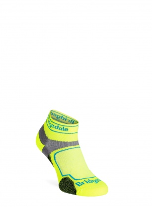 Skarpety biegowe Bridgedale Ultra Lt T2 Coolmax Sport Low - yellow