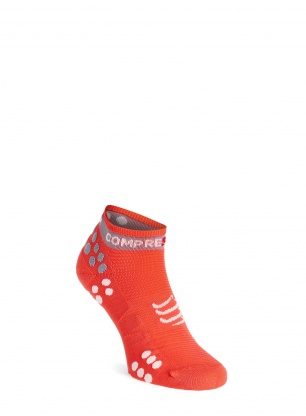 Skarpety Compressport Pro Racing Socks v3.0 Run Low - coral