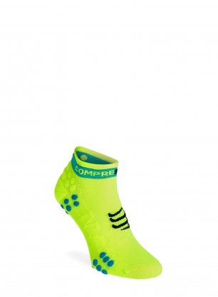 Skarpety Compressport Pro Racing Socks v3.0 Run Low - fluo yellow