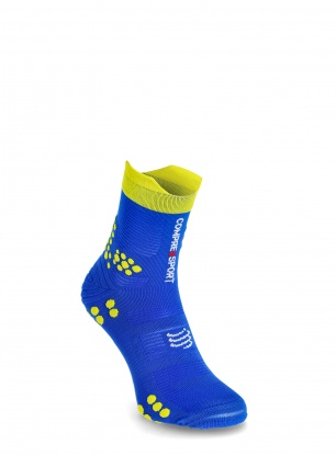 Skarpety Compressport Pro Racing Socks v3.0 Trail - blue lolite/lime