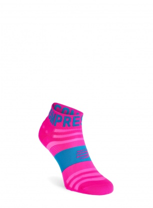 Skarpety Compressport Pro Racing Socks v3.0 Ultralight Run Low - pink