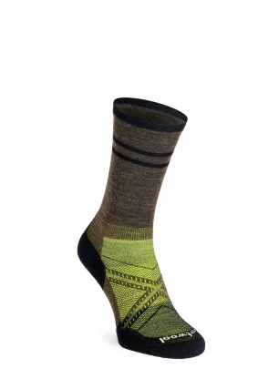 Skarpety Smartwool PhD Cycle Ultra Light Pattern Crew - olive
