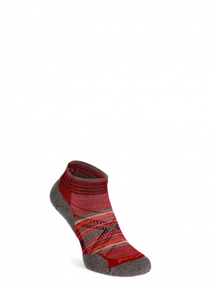 Skarpety Smartwool PhD Run Light Elite Pattern Low Cut - tibetan red