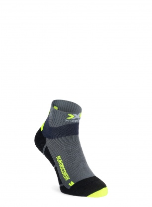Skarpety X-Socks Run Discovery - charcoal/phyton yellow