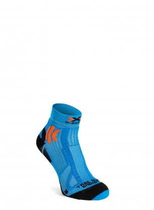 Skarpety X-Socks Trail Run Energy - teal blue/sunset orange