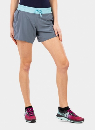 Spodenki damskie Patagonia Nine Trails Shorts 6 - plume grey