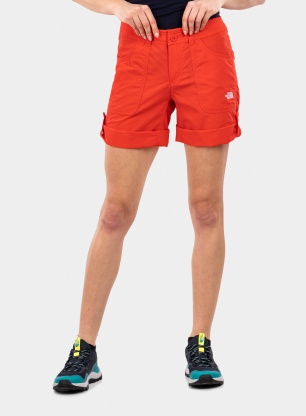 Spodenki damskie The North Face Horizon Sunnyside Short - red