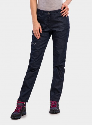 Spodnie damskie Salewa Agner Denim 3 CO Pant - l. blue jeans