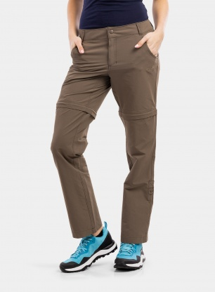 Spodnie damskie The North Face Exploration Convertible Pant - brown
