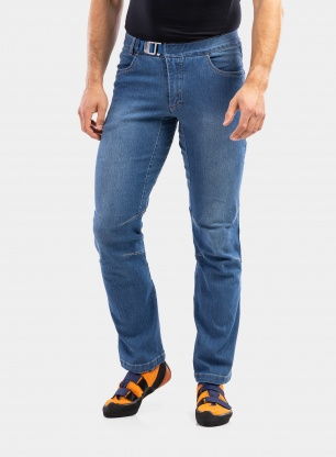 Spodnie wspinaczkowe Ocun Hurrikan Jeans - middle blue