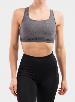 Stanik Under Armour Crossback Mid Heather Bra - charcoal light