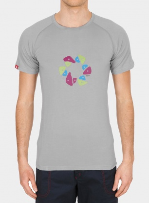 Techniczny t-shirt Ocun Bamboo T Holds - dove grey