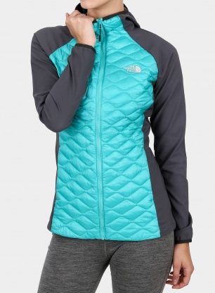Damska kurtka The North Face Thermoball Hybrid Hoodie - ion blue/grey