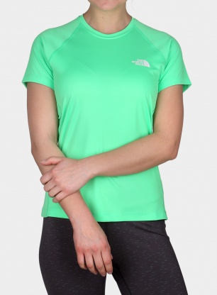 Treningowy T-shirt damski The North Face Flex S/S - chlorophyll green