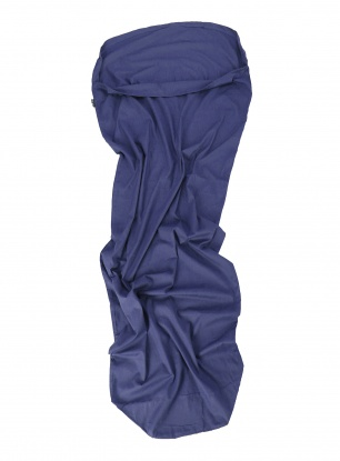 Wkładka Sea To Summit Cotton Travel Liner Mummy Hood - navy