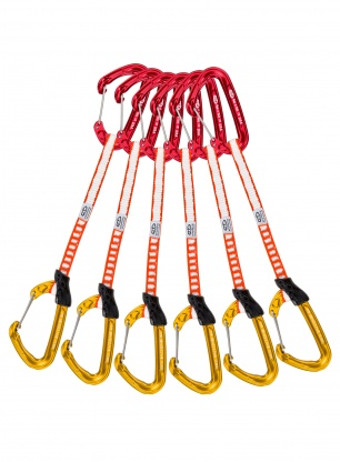 Zestaw Climbing Technology Fly-Weight Evo Set 17cm x6 - red/gold