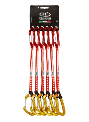 Zestaw Climbing Technology Fly-Weight Evo Set 22cm x6 - red/gold